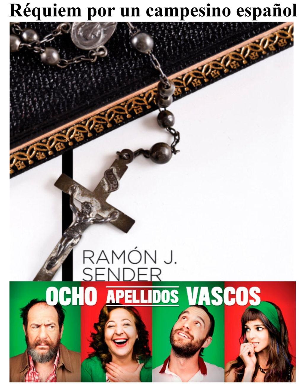 New Spanish A Level: Paper 2 (writing) support bundle: Réquiem por un campesino español and Ocho apellidos vascos