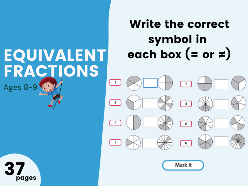Equivalent Fractions Year 4