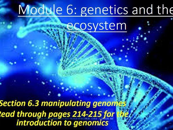 OCR A-level Biology A Manipulating Genomes unit ( 6.1.3 or 6.3)