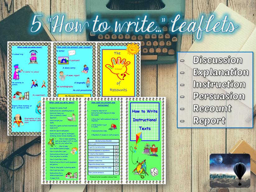 5 'How to write...' leaflets for KS2
