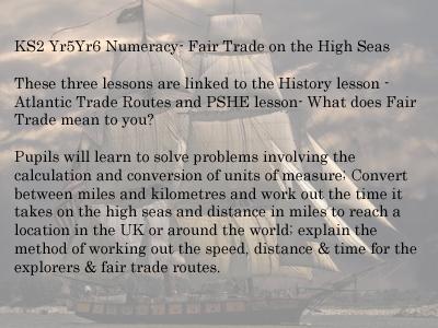 KS 2 Maths  Fair trade on the high sea