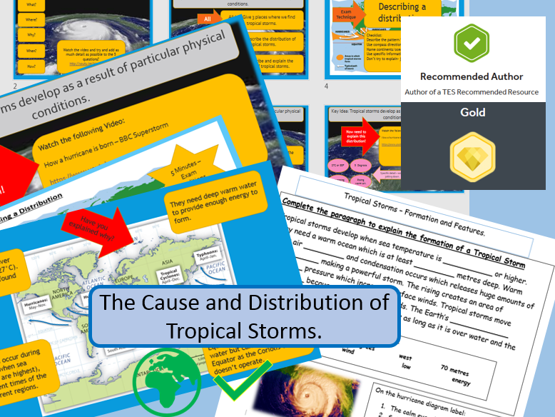 1. The cause and distribution of tropical storms (hurricanes) KS3