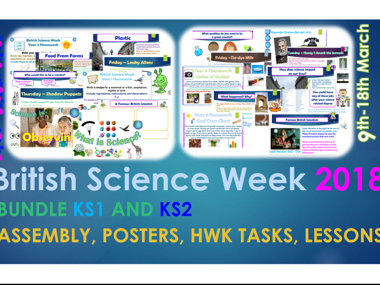 British Science Week KS1 and KS2 Bundle