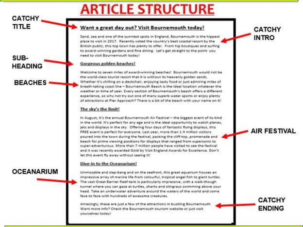 91 gcse english language writing the perfect article