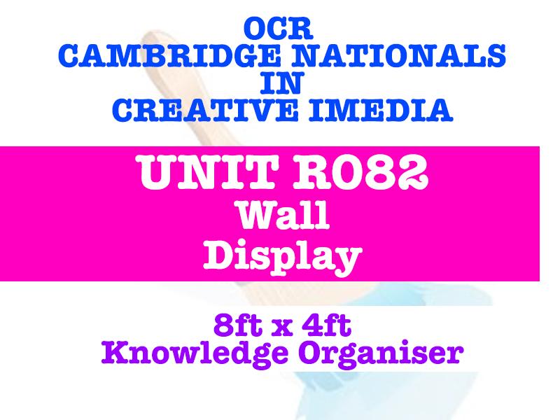 OCR R082 Cambridge Nationals - Creative iMedia - Wall Display & Knowledge Organiser