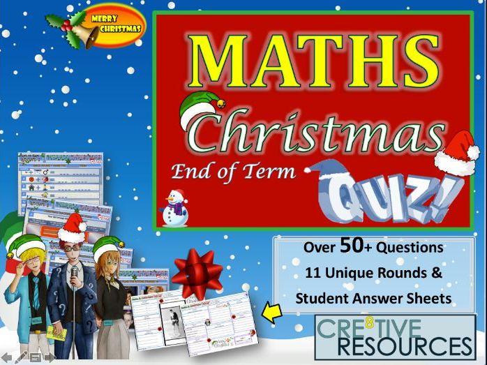 Maths Christmas Maths Quiz 2019