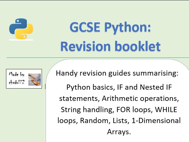 GCSE Python - Revision booklet