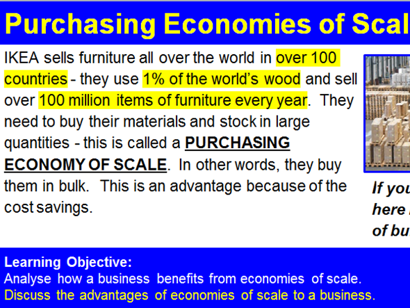 Economies of Scale - IKEA