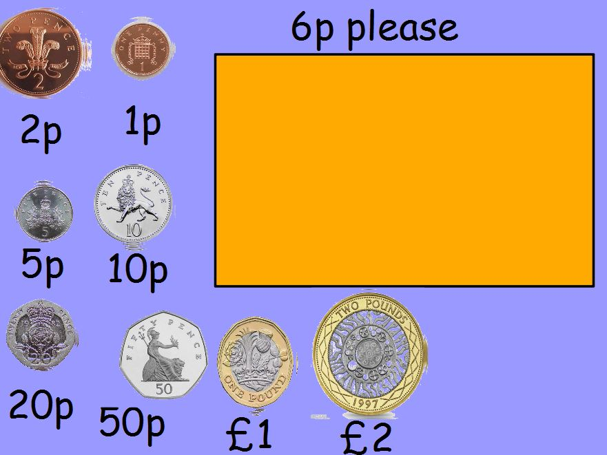 Selecting Money - Making amounts using coins and notes Year 2