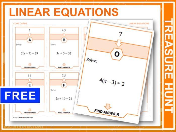 Linear Equations  (Treasure Hunt)