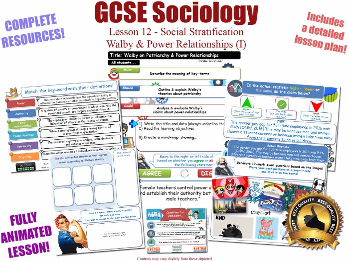 Power Relationships (I) - Social Stratification -L12/20 [ WJEC EDUQAS GCSE Sociology ] Walby