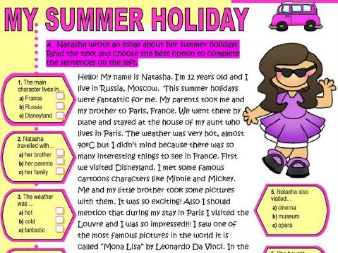 English - Year 1 - Lesson 1 (Summer Holiday Writing)