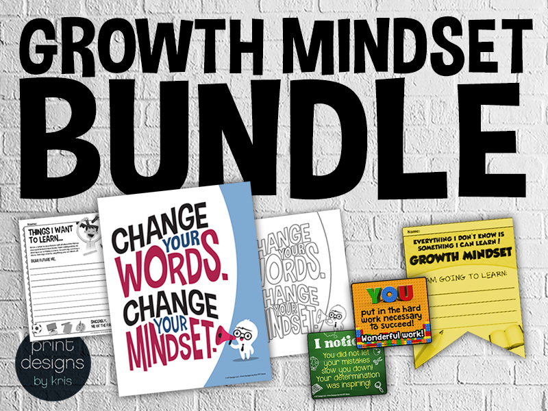 Growth Mindset Classroom Decor and Activities