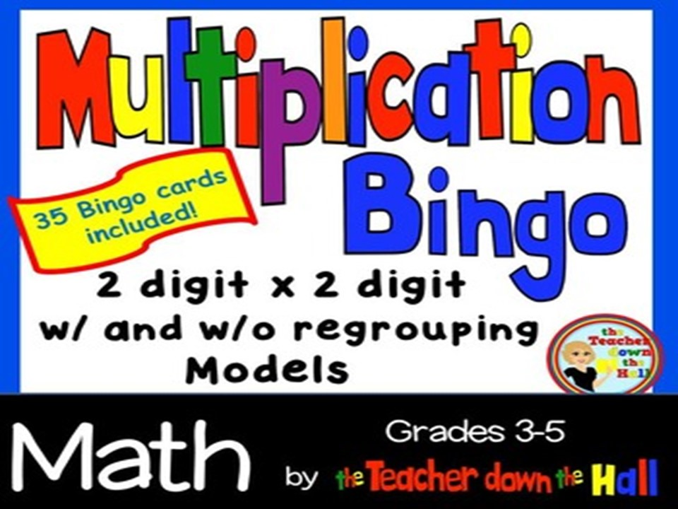 Multiplication Bingo w/ 35 Bingo Cards Grades 3-5