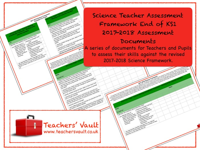 Science Teacher Assessment Framework End of KS1 2017-2018 Assessment Documents