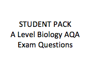 STUDENT A Level Biology Exam Questions AQA