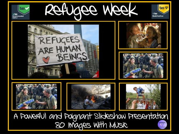 Refugees Are Human Beings - 80 Slide PowerPoint Slideshow With Music - Very Powerful and Poignant