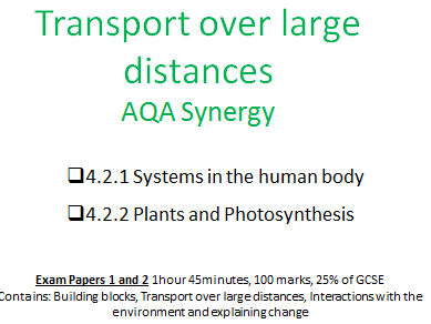 AQA Synergy Transport over large distances revision booklet
