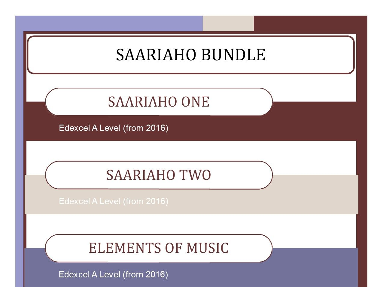 Saariaho Bundle for Edexcel A Level (2016-)
