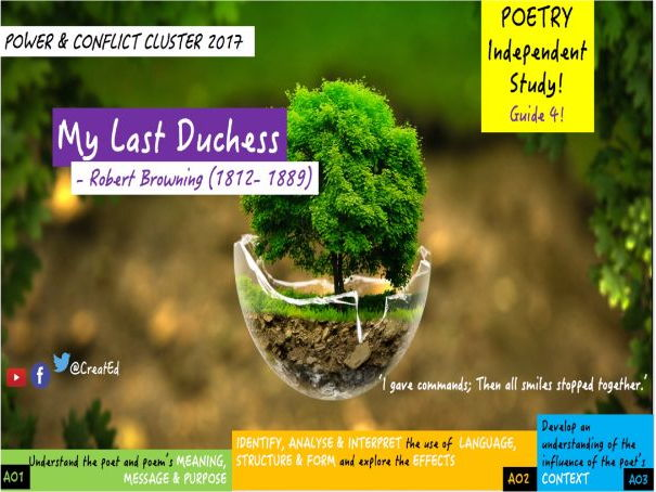 My Last Duchess, Robert Browning: Independent Study Guide (ebook) New GSCE English Literature