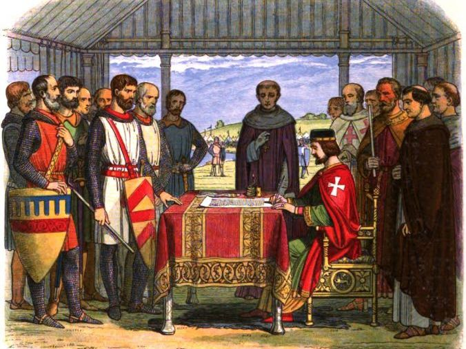 King John I, Revolting Barons and the Signing of Magna Carta in 1215