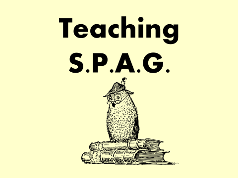 WRITING Staff Meeting: SPAG Activities (Grammar, Spelling, English, INSET, Training)