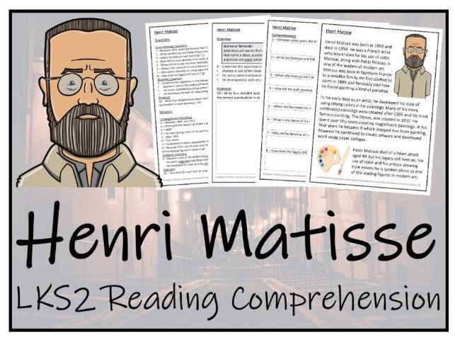 LKS2 Henri Matisse Reading Comprehension Activity