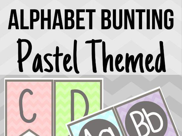 Pastel Alphabet Bunting