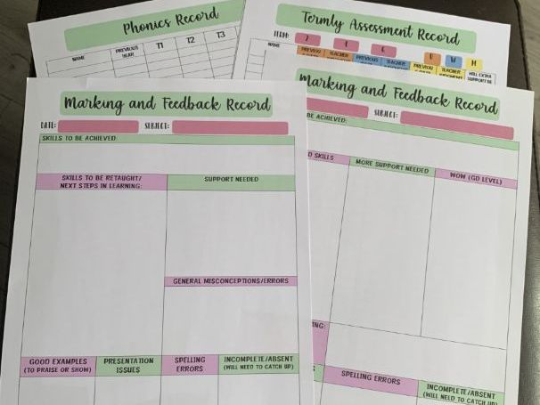 MARKING, FEEDBACK & ASSESSMENT RECORDS