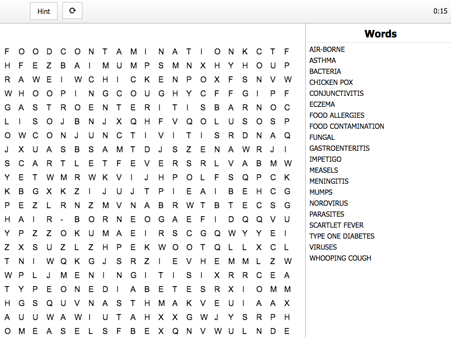 Interactive Word Search for BTEC Level 2 Children's Play, Learning and Development Unit 1