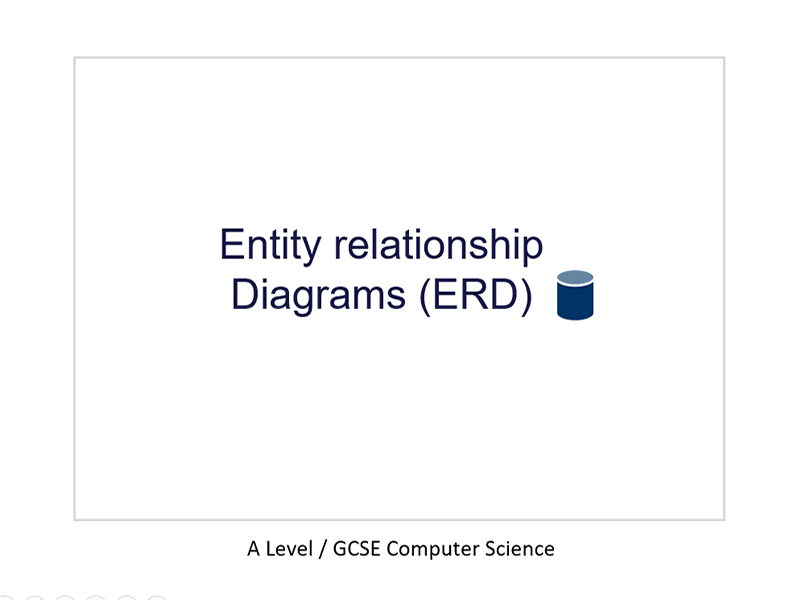 Entity Relationship Diagrams (ERD)