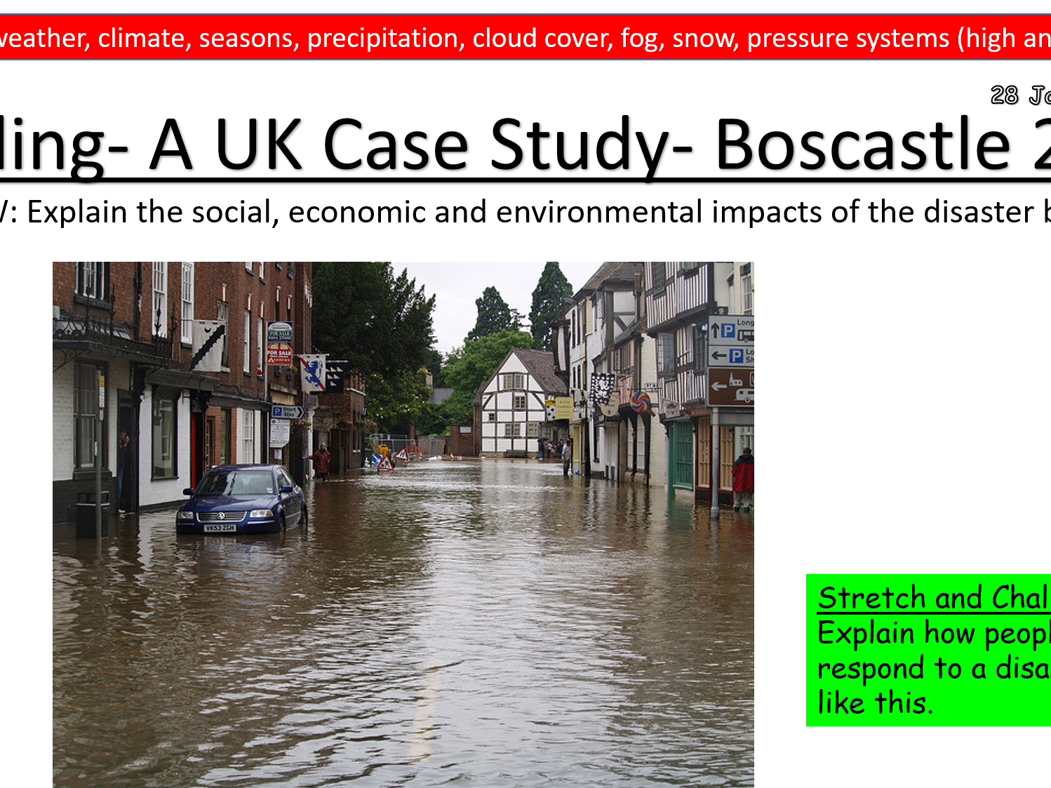 KS3 Unit- Weather and Climate- Geography
