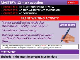 AQA RS CHRISTIAN & ISLAM PRACTICES: GCSE REVISION & MASTERY of all Practices /linked quotes.