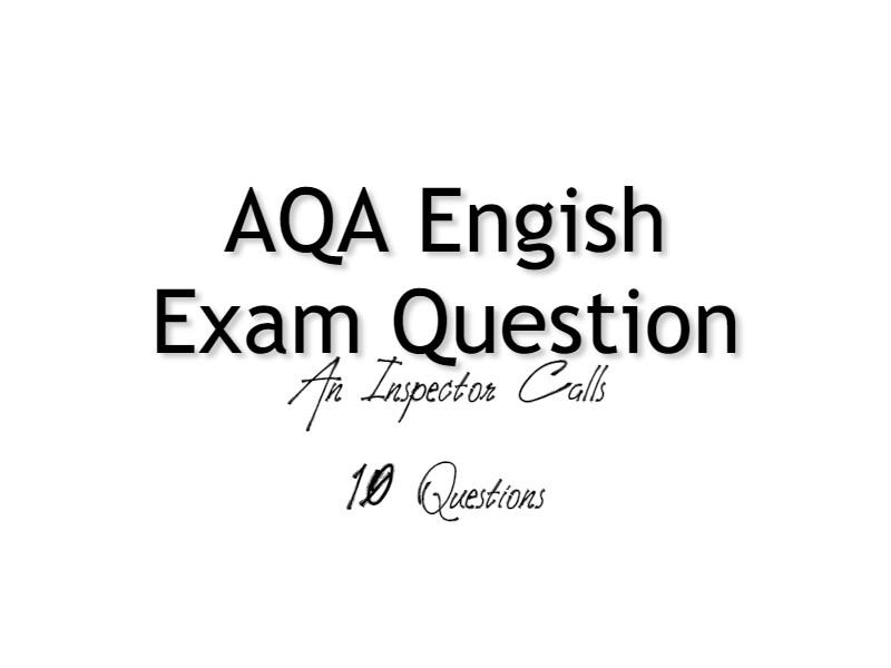 An Inspector Calls Exam Practice Questions