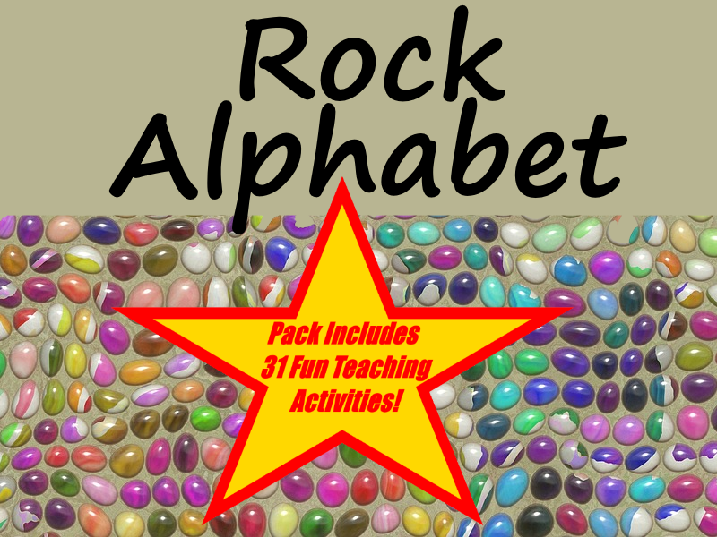 Rocks and Soil Rocks alphabet + 31 Fun Teaching Activities For These Cards