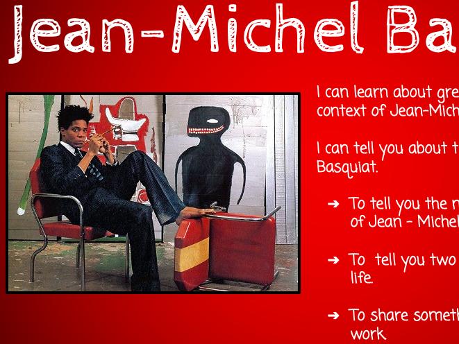 Y5 Art scheme - Jean-Michel Basquiat