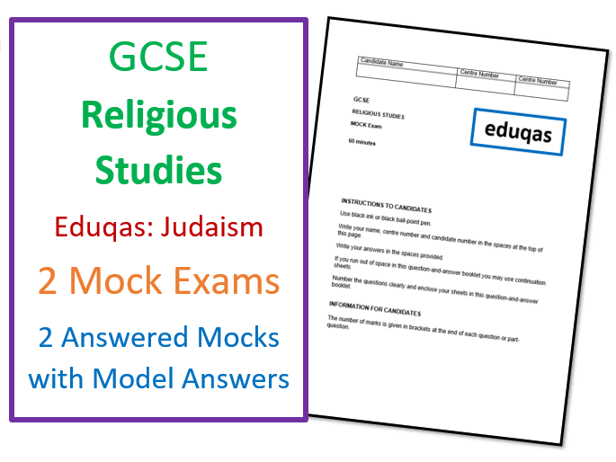 Eduqas GCSE Religious Studies: Judaism Mock Exams with Model Answers