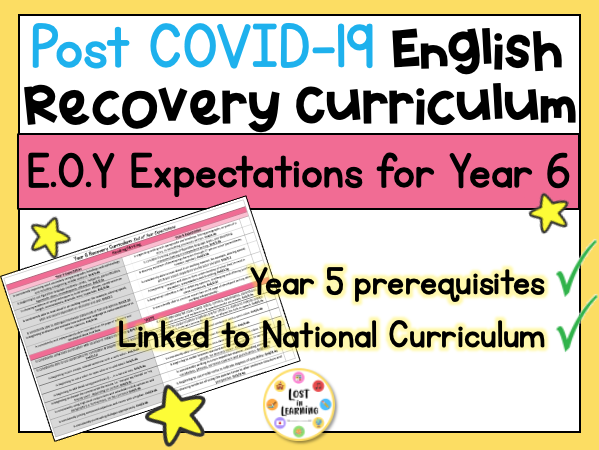 Post-COVID Year 6 English Expectations (Recovery Curriculum)