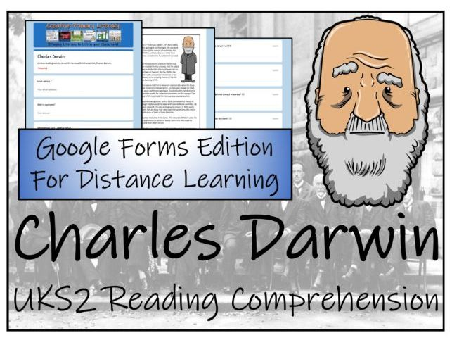 UKS2 Charles Darwin Reading Comprehension & Distance Learning Activity