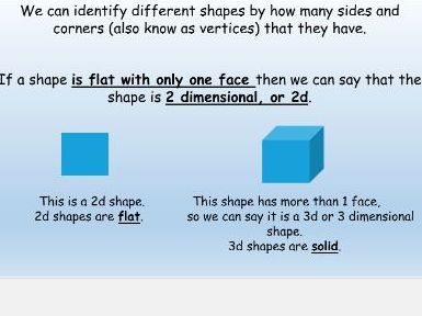2d shape planning and presentation for Year 2 children