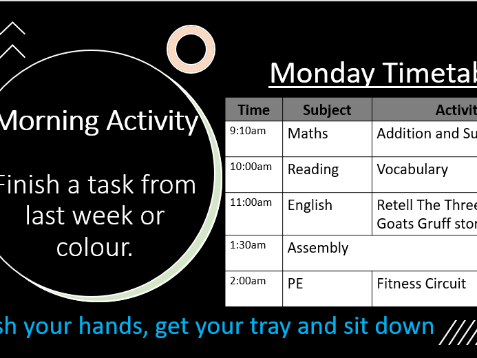 Morning Activity Weekly Slides