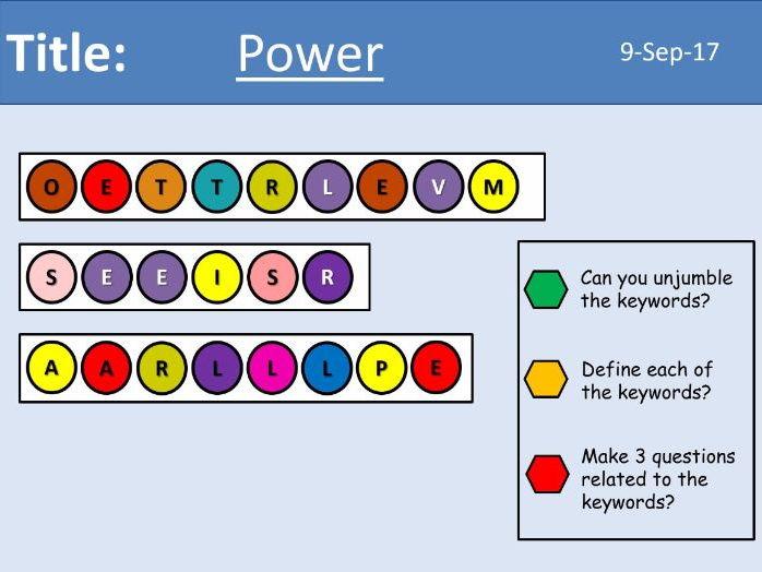 AQA New GCSE Electricity - Lesson 5 - Power
