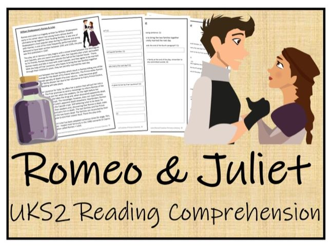 UKS2 Literacy - Romeo and Juliet Reading Comprehension Activity