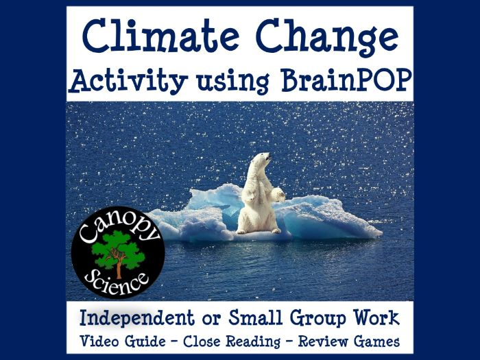 Climate Change Activity using BrainPOP