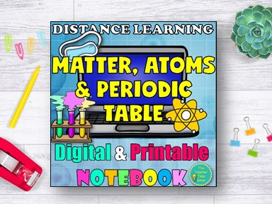 Matter Atoms Periodic Table Distance Learning Pack!