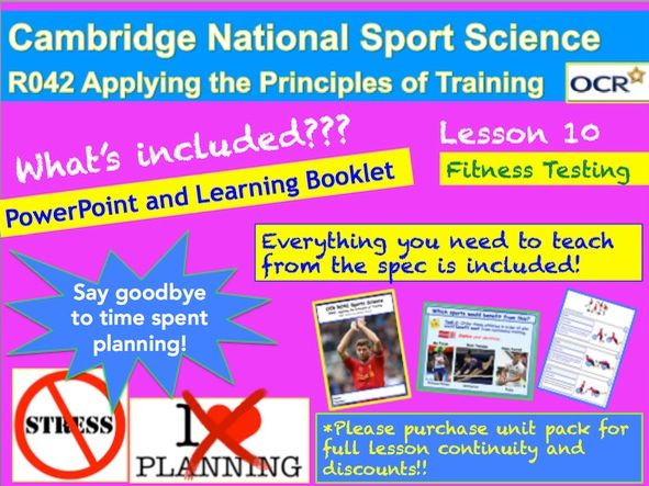 Cambridge National Sports Science R042: Fitness Testing