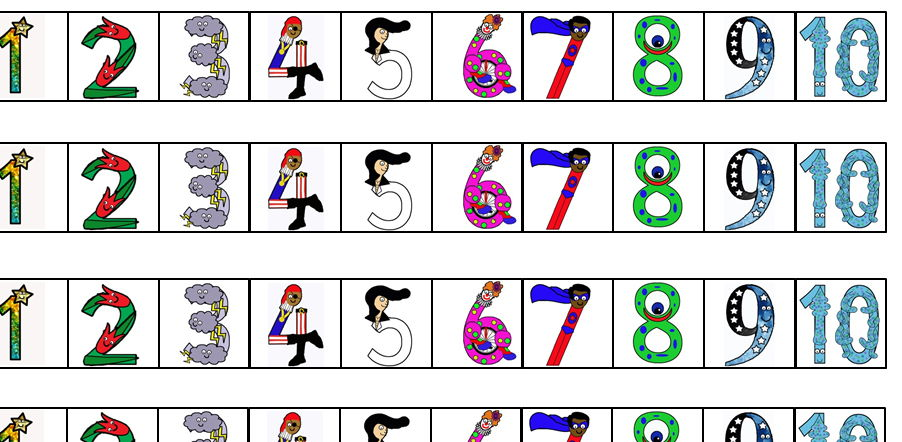 Numberland Number line