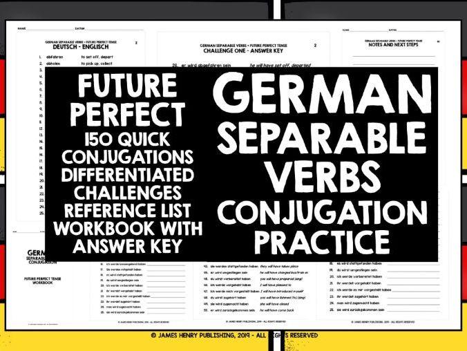 GERMAN SEPARABLE VERBS CONJUGATION PRACTICE #7