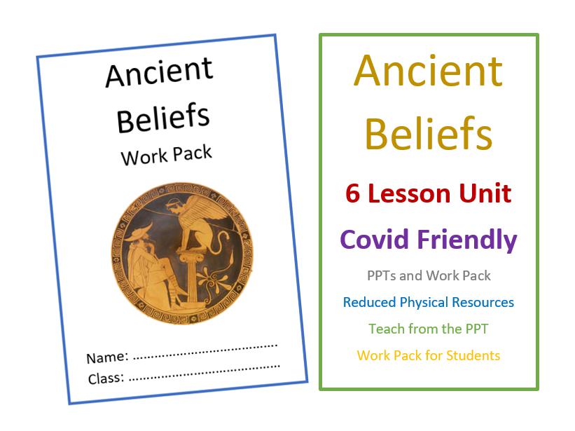 KS3 Ancient Beliefs Unit - Covid Friendly Teaching Unit