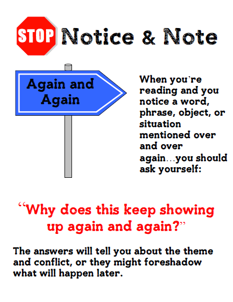 Notice and Note FICTION Posters